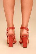 Cusco Cinnamon Red Suede Ankle Strap Heels 3