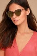 Honey Bee Gold and Yellow Mirrored Sunglasses 1