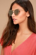 Bright Lights Gold and Yellow Mirrored Sunglasses 1