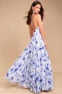 Eternal Joy Blue Floral Print Maxi Dress 6