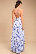 Eternal Joy Blue Floral Print Maxi Dress 7