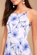Eternal Joy Blue Floral Print Maxi Dress 8