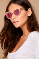 Sonix Eliot Beige and Pink Mirrored Sunglasses 1