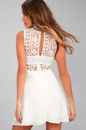 Elora White Lace Skater Dress 3