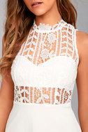 Elora White Lace Skater Dress 4