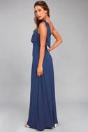 Purpose Navy Blue One-Shoulder Maxi Dress 2