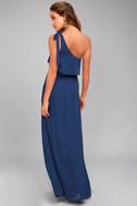 Purpose Navy Blue One-Shoulder Maxi Dress 3