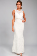 Music of the Heart White Lace Maxi Dress 5
