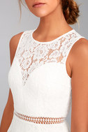 Music of the Heart White Lace Maxi Dress 8
