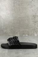 Kora Black Slide Sandals 1