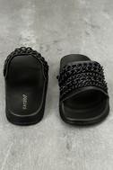 Kora Black Slide Sandals 3