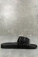 Kora Black Slide Sandals 2