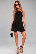 Cutout and About Black Skater Dress 2