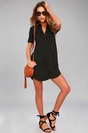 Oxford Comma Black Shirt Dress 2