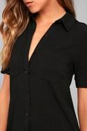 Oxford Comma Black Shirt Dress 4