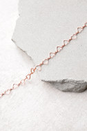 Heart's Surrender Rose Gold Choker Necklace 2