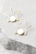 Pizzazz Gold Star Earrings 2