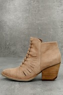 Coconuts Ally Natural Nubuck Cutout Ankle Booties 1
