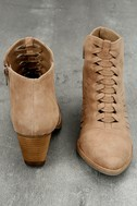 Coconuts Ally Natural Nubuck Cutout Ankle Booties 3