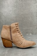 Coconuts Ally Natural Nubuck Cutout Ankle Booties 2