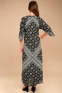 Amuse Society Scorpio Black Print Maxi Dress 3