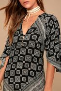Amuse Society Scorpio Black Print Maxi Dress 4