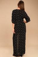 Amuse Society Lyla Black Embroidered Maxi Dress 3
