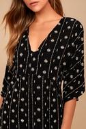 Amuse Society Lyla Black Embroidered Maxi Dress 4