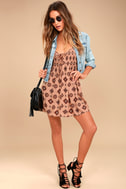 Amuse Society Baja Rusty Rose Print Dress 1