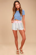 Welcome to Paradise Cream Print Shorts 3
