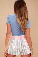 Welcome to Paradise Cream Print Shorts 4