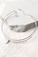 Polished And Poised Silver Layered Choker Necklace 2