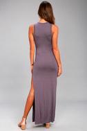 Shield and Sword Dusty Purple Sleeveless Maxi Dress 10