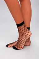 Caught Up Black Fishnet Socks 3