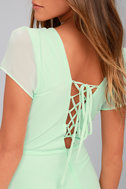 World on a String Mint Green Lace-Up Maxi Dress 4