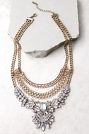 It's Your Love Gold Rhinestone Layered Statement Necklace 2