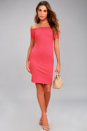 Me Oh My Fuchsia Off-the-Shoulder Bodycon Dress 2