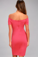 Me Oh My Fuchsia Off-the-Shoulder Bodycon Dress 3