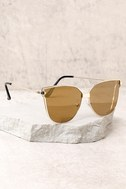 Bright Lights Gold and Yellow Mirrored Sunglasses 2