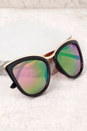 Style First Black and Pink Mirrored Sunglasses 3