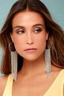 In the Light Silver Chain Earrings 1
