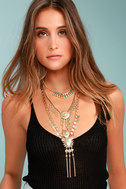 Sundial Gold Layered Necklace 5