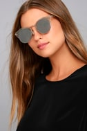 Livin' Easy Silver Mirrored Sunglasses 4