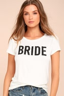 Bride to Be White Tee 1