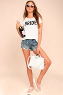 Bride to Be White Tee 2