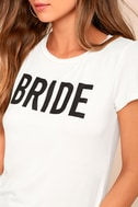 Bride to Be White Tee 4