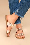 Lexie Dark Penny Pearl Slide Sandals 2