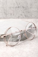 Kingston Clear and Rose Gold Round Glasses 2