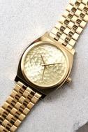 Nixon Time Teller Gold Hammered Watch 4