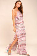 Mosaic Days Blush Pink Print Maxi Dress 2